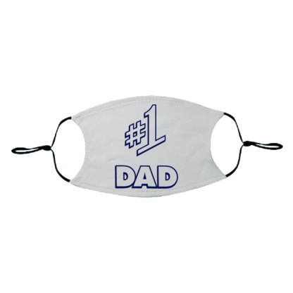 Number One #1 Dad White Print Adult Face Mask - MaskMarket.com