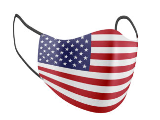Red, White, & Blue Classic American Flag Adult Face Mask - MaskMarket.com