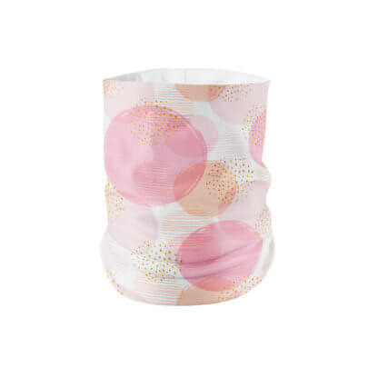 White Pink Peach Rose Gold Aesthetic Print Neck Gaiter Adult Face Mask - MaskMarket.com