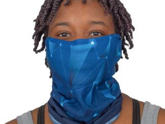 Blue Geometric Constellation Print Adult Face Mask Gaiter - MaskMarket.com